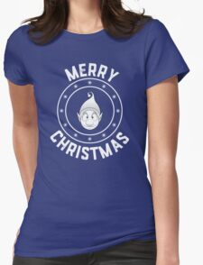 Ollie's Merry Christmas Logo Womens Fitted T-Shirt