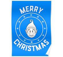 Ollie's Merry Christmas Logo Poster
