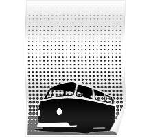 Halftone - VW Bay Camper Van Poster