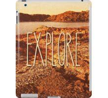 Explore Seaside Rocks Sunset Vintage Bay Adventure iPad Case/Skin