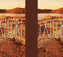 Explore Seaside Rocks Sunset Vintage Bay Adventure by Beverly Claire Kaiya