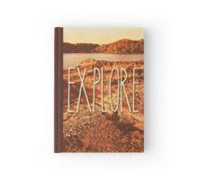 Explore Seaside Rocks Sunset Vintage Bay Adventure Hardcover Journal