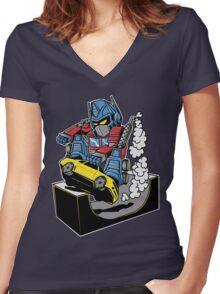 SKATER PRIME Women's Fitted V-Neck T-Shirt