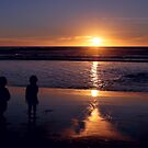 Silhouetted Trio of Kids by Alexander Gitlits