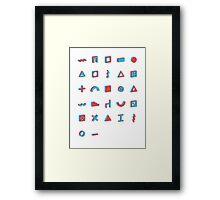 Architectural alphabet Framed Print