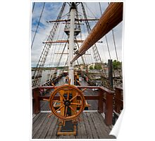 Ship's Wheel, The Dunbrody famine ship, New Ross, Co. Wexford, Ireland Poster