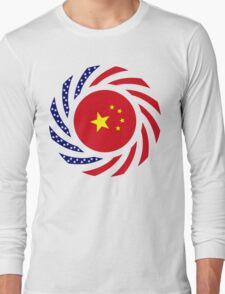 Chinese American Multinational Patriot Flag Series Long Sleeve T-Shirt