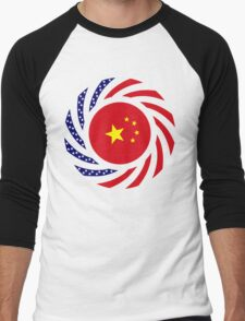 Chinese American Multinational Patriot Flag Series Men's Baseball ¾ T-Shirt