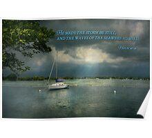 Inspirational - Hope - Sailor - Psalm 107-29 Poster