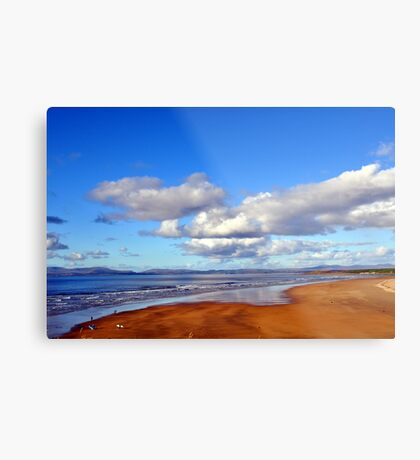 Donegal Surf Sun Rise Metal Print
