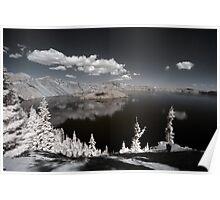 Crater lake infrared landscape fine art - Sognando vicino al cielo Poster