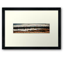 Fall in the swamp panoramic wall art artistic - Il calore dell'Autunno Framed Print