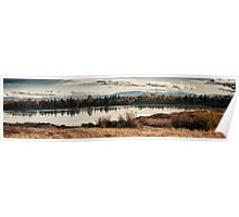 Fall in the swamp panoramic wall art artistic - Il calore dell'Autunno Poster