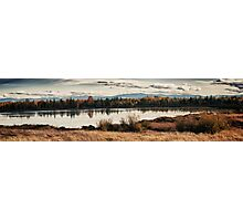 Fall in the swamp panoramic wall art artistic - Il calore dell'Autunno Photographic Print