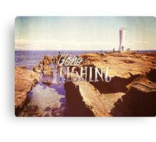 Gone Fishing Noon Lighthouse by the Sea Canvas Print