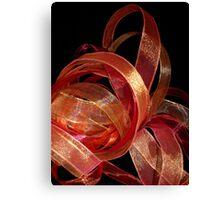 Ribbon works Canvas Print