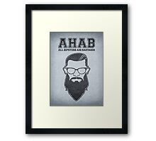 ALL HIPSTERS ARE BASTARDS - Funny (A.C.A.B) Parody  Framed Print
