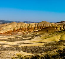 Painted Hills desert panoramic wide landscape fine art panorama wall art color - La storia della Terra by visionitaliane