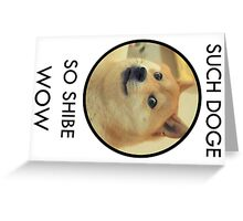 Such Doge Greeting Card