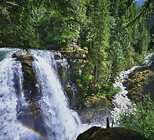 Nooksack waterfall nature of the Cascades river color photo print home decor - Il grande Salto by visionitaliane