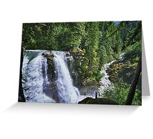 Nooksack waterfall nature of the Cascades river color photo print home decor - Il grande Salto Greeting Card