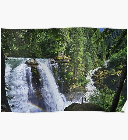 Nooksack waterfall nature of the Cascades river color photo print home decor - Il grande Salto Poster