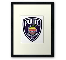 Parkers Prairie Police patch Framed Print