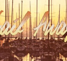 Sail Away Yacht Harbor Late Afternoon Seaside Sticker