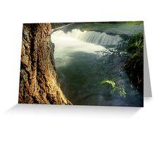 Whatcom creek waterfall in gentle sunlight soft focus lomography - Sussurri Greeting Card