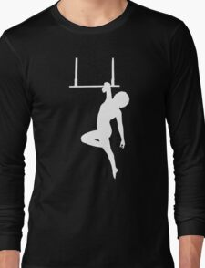 Aerialist on Trapeze Silhouette Woman Long Sleeve T-Shirt