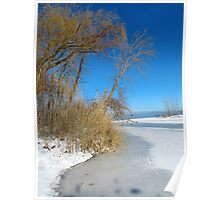 Wintertime At Old Woman Creek Poster