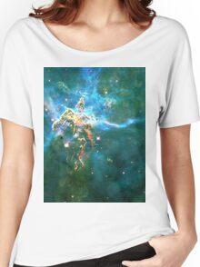 God's Domain Cyan | MXTHEMATIX Women's Relaxed Fit T-Shirt