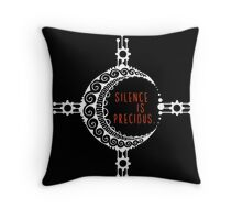 Silence is precious. Yoga Mehndi Design Throw Pillow