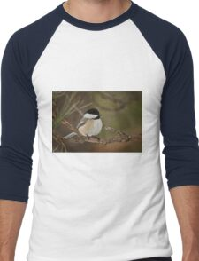 Black Capped Chickadee Men's Baseball ¾ T-Shirt