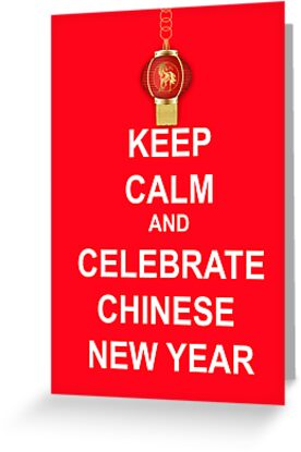 Chinese New Year, year Of The horse greeting card by Moonlake