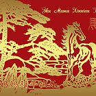 Mother, Chinese New Year Card, Year Of The Horse by Moonlake