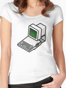 Apple //c CRT Monitor Women's Fitted Scoop T-Shirt