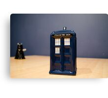 Tardis and the Dalek Canvas Print