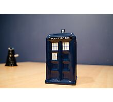 Tardis and the Dalek Photographic Print
