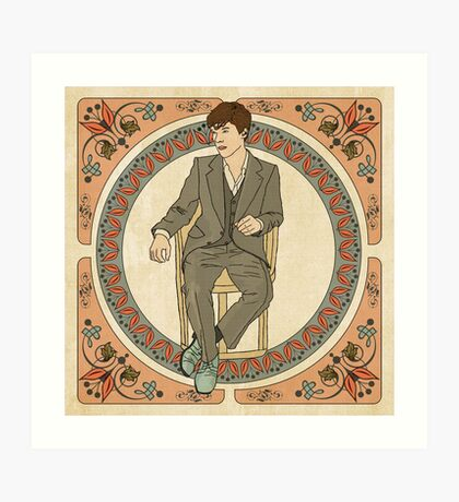 Art Nouveau Sherlock, BBC Sherlock Art Print