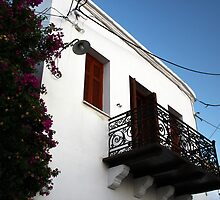 balcony in Skyros by mkokonoglou