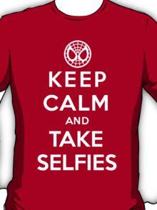Keep Calm and Take Selfies - Spiderman T-Shirt