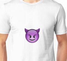 Smiling Purple Devil Emoji Unisex T-Shirt