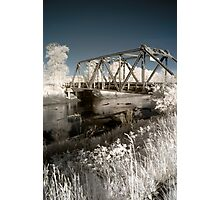 Bridge over the river in the fields color infrared - Il ponte verso il Sogno Photographic Print