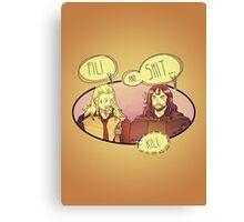 Fili and.... Canvas Print