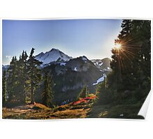 Sunset in fall on Mount Baker naturalistic color - The beautiful Giant Poster