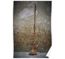 Handcrafted Broom Poster