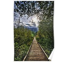 Fine art landscape in the Cascade mountains of the Pacific Northwest - wall art - Verso le montagne Poster