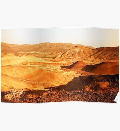 Painted Hills desert on redscale film fine art wall art - Marte Poster