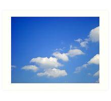 Sky signature Art Print